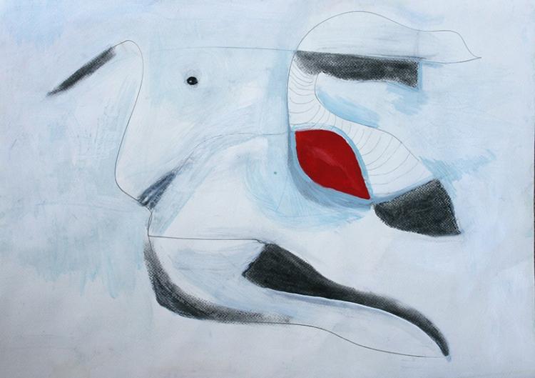 Aftermath abstract mixed media artwork