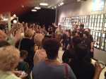 There was a very big crowd for opening night of the Twitter Art Exhibit in Orlando, March, 2014.