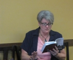 The author reading at the Book Launch Party for The Gray Lady of Long Branch.