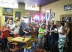 Book Launch Party at Krazy Kup Coffee House in Plant City, FL, celebrating the launch of The Gray Lady of Long Branch novel.