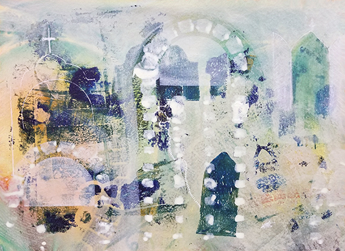 Sanctuary - mixed media artwork by Maura Satchell