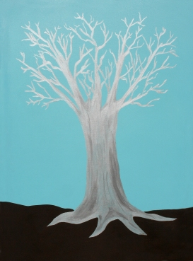 "The Druid Tree - 36 x 48 x 1"" canvas wrapped acrylic painting by Maura Satchell, Artist. All rights reserved."