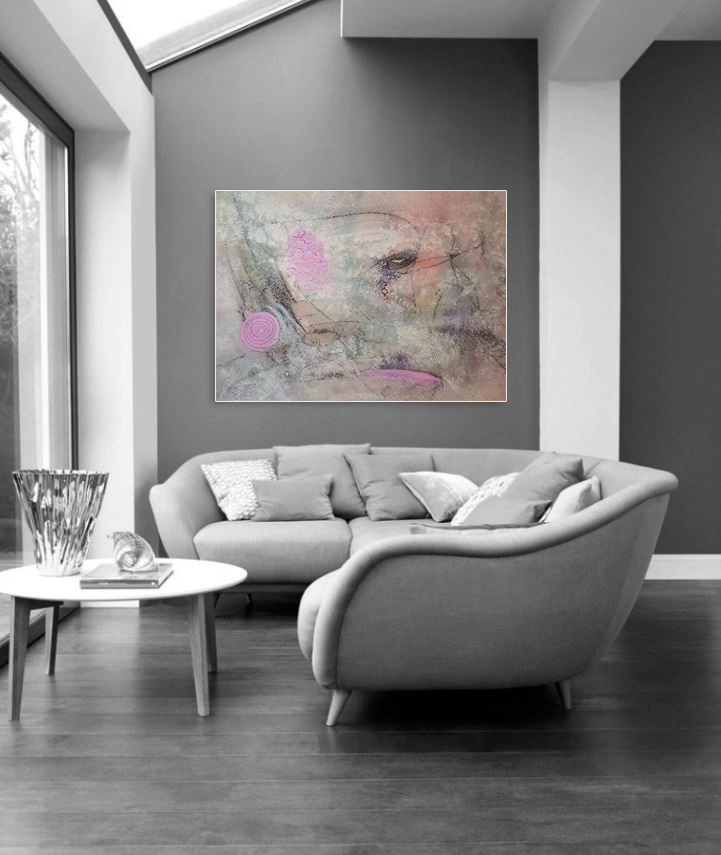 Aspirational abstract painting by artist Maura Satchell