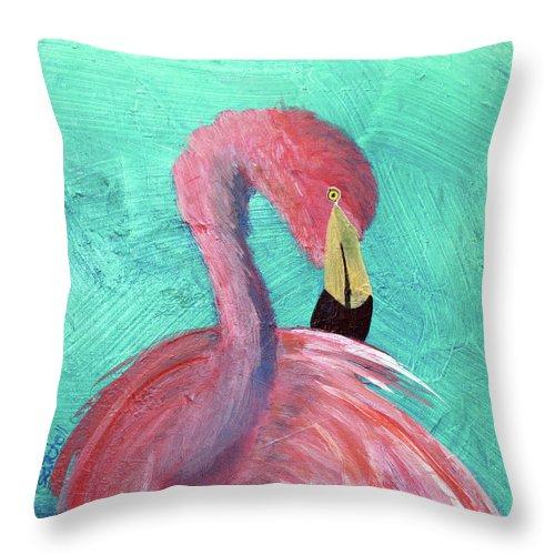 louis-maura-satchell throw pillow